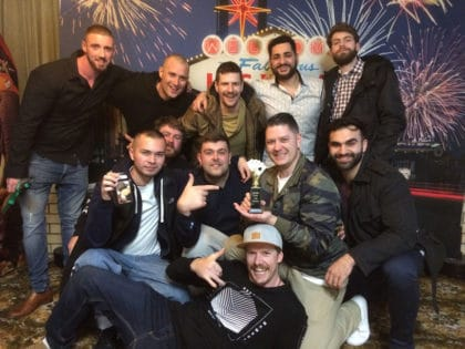Group of guys at Sammies bucks party in Adelaide