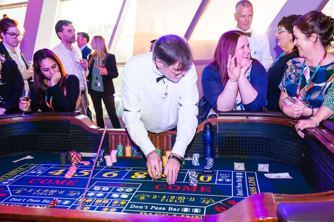 Craps table set up at the Adelaide Convention Centre