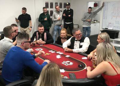 Poker teambuilding event